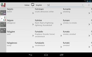 Screenshot of Free Dict Italian English