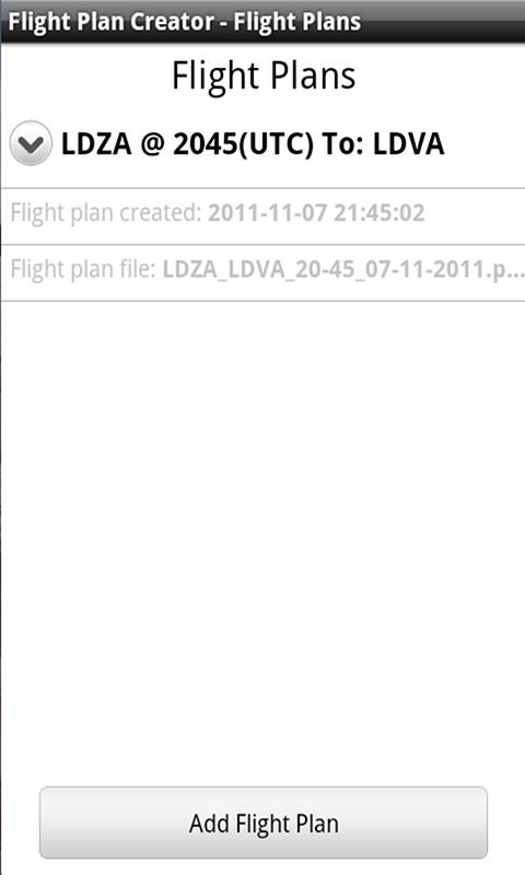Flight Plan Creator - screenshot