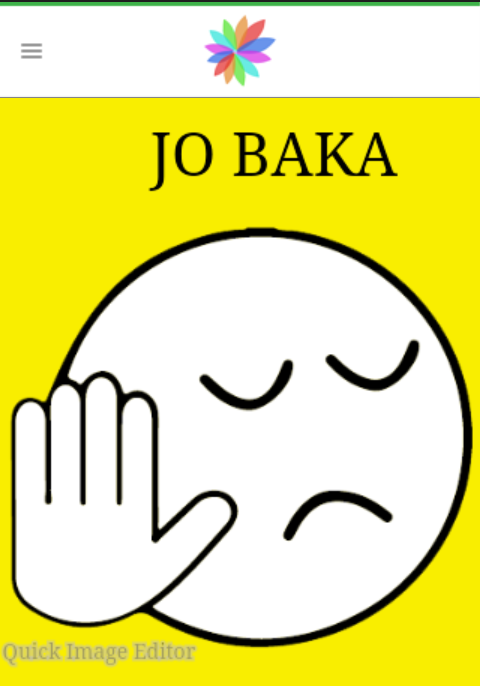 jo baka quick image editor- screenshot