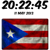 Puerto Rico Digital Clock