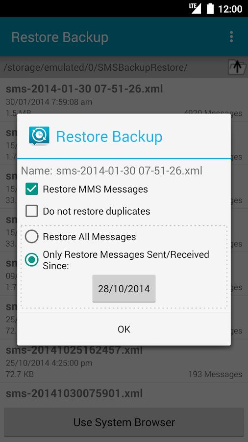 SMS Backup & Restore - screenshot