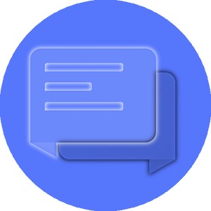 EvolveSMS Transparent Blue for Android