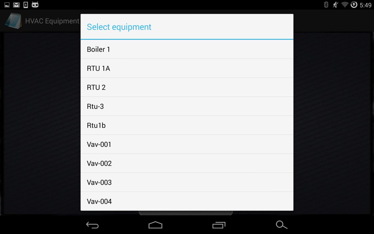 HVAC Equipment Notebook Free - screenshot