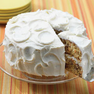 Scrumptious Carrot Cake With Cream Cheese Frosting.