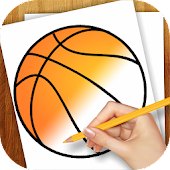 Learn to Draw Basketball Logo