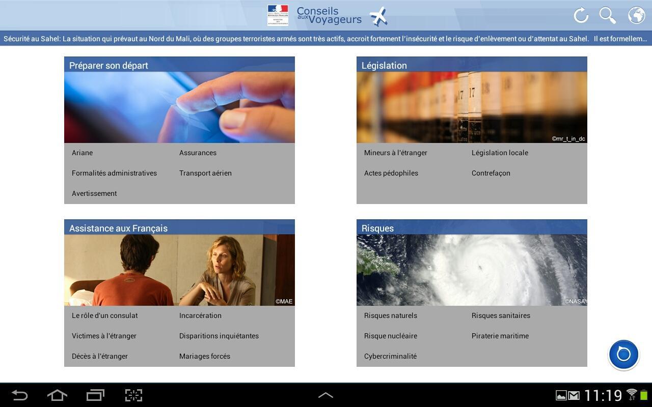 Conseils aux Voyageurs HD - screenshot