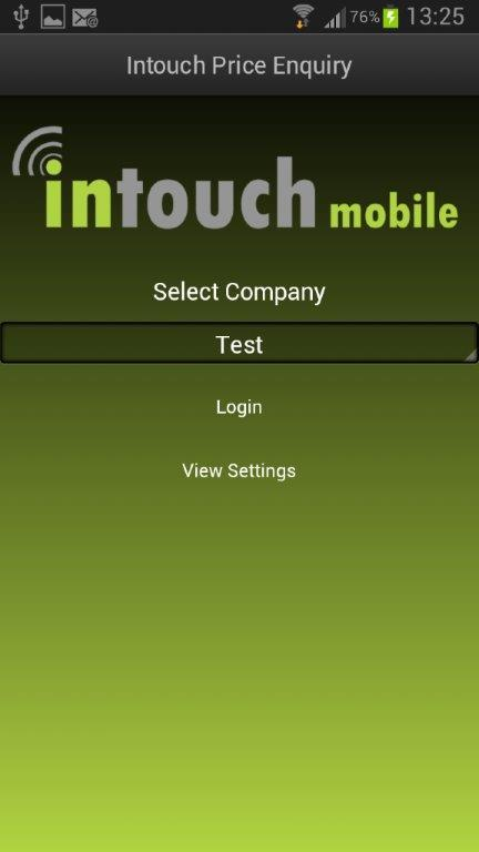 Intouch Price Enquiry- screenshot
