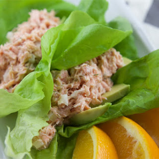 Salmon & Avocado Stuffed Lettuce Wraps