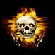 Skull of Flames Live Wallpaper