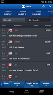 FXCM Trading Station Mobile- screenshot thumbnail