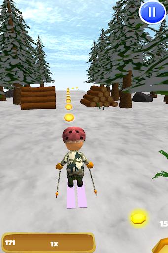 下坡雪滑雪:滑雪3D