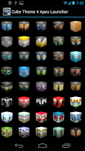 Cube Theme 4 Apex Launcher- screenshot thumbnail
