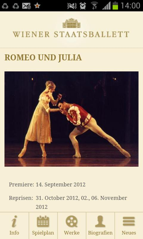 Wiener Staatsballett - screenshot