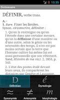 Screenshot of French dictionary TLFi