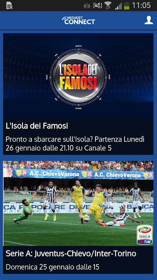 Mediaset Connect - screenshot