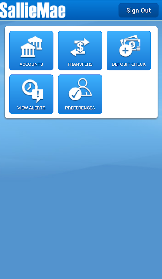 Sallie Mae Mobile Banking- screenshot