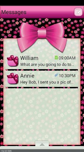 Bows GO SMS THEME