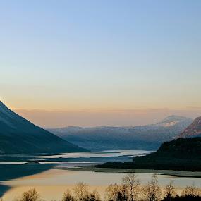 lovely silence by Cecilie Hansteensen - Landscapes Mountains & Hills ( moutain, water, hills, oppdal, gjevilvassdalen, gjevilvannet, landscape, norway,  )