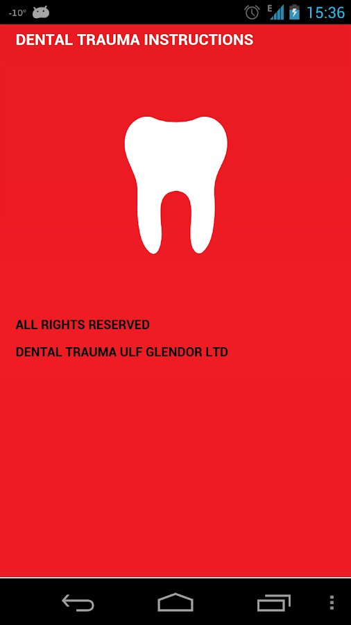 Dental Trauma First Aid- screenshot