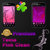 Theme Pink clean Go laucher
