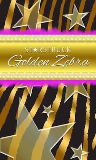 GO SMS Gold Theme Zebra Star