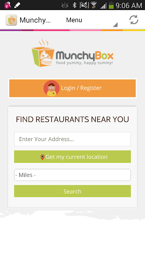 MunchyBox - Food Delivery App