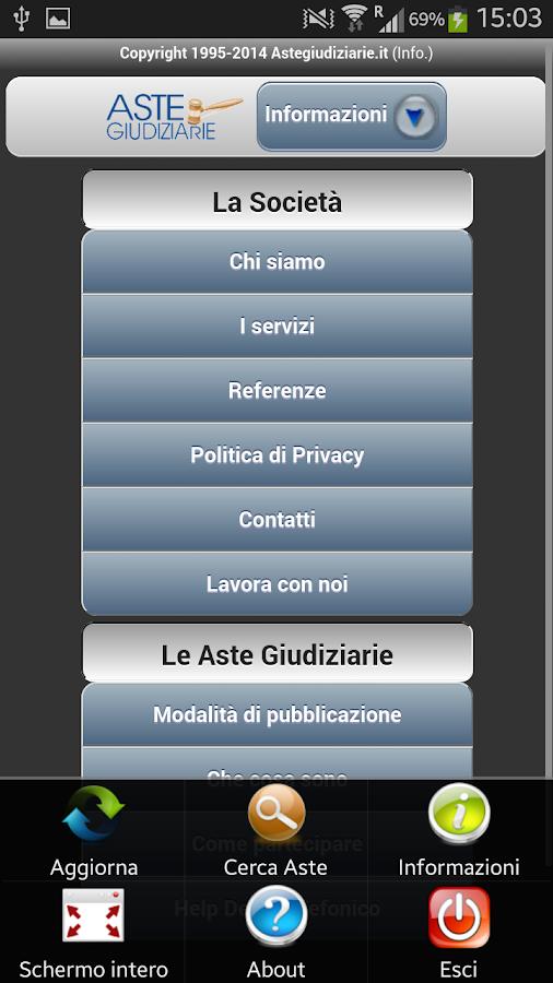 Aste Giudiziarie Mobile - screenshot