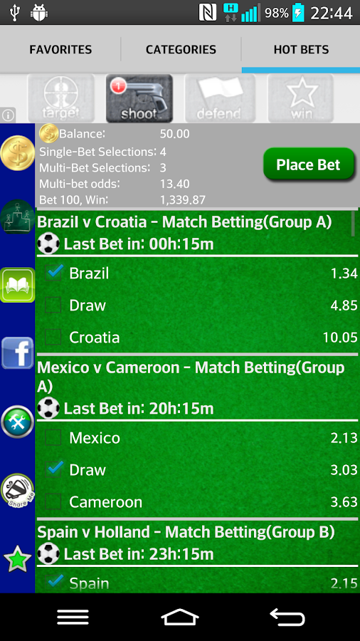 betting world app