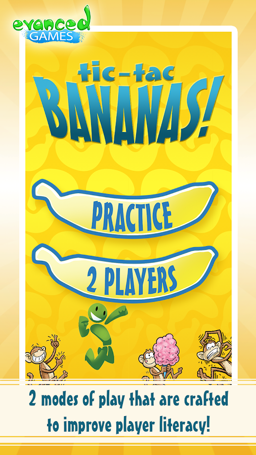 Tic-Tac Bananas! Monkey Words- screenshot
