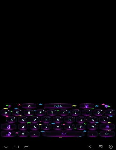 GO Keyboard Neon Stars Theme