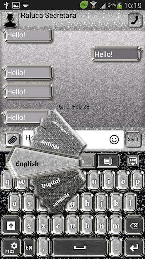 GO SMS Proのシルバーグラマー