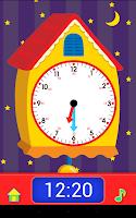 Screenshot of Telling Time Flash Cards