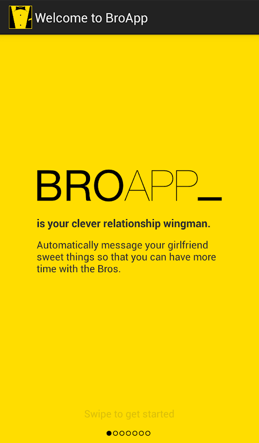 BroApp- screenshot