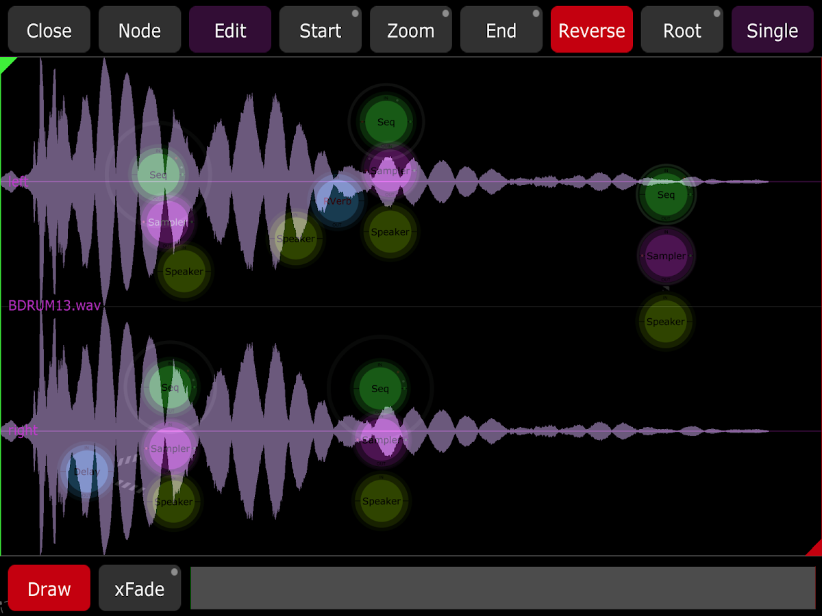 Jasuto modular synthesizer - screenshot