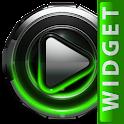 Poweramp widget Green Glow icon