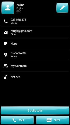 玩個人化App|Dialer theme Gloss Cyan免費|APP試玩