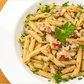 Lobster Penne with Truffle Oil.