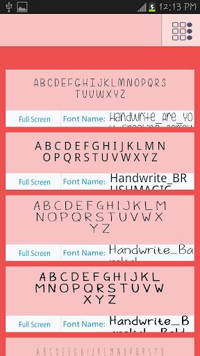 Handwrite Fonts Free