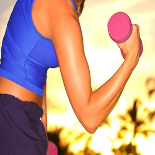 手臂鍛煉的女性 健康 App LOGO-APP試玩