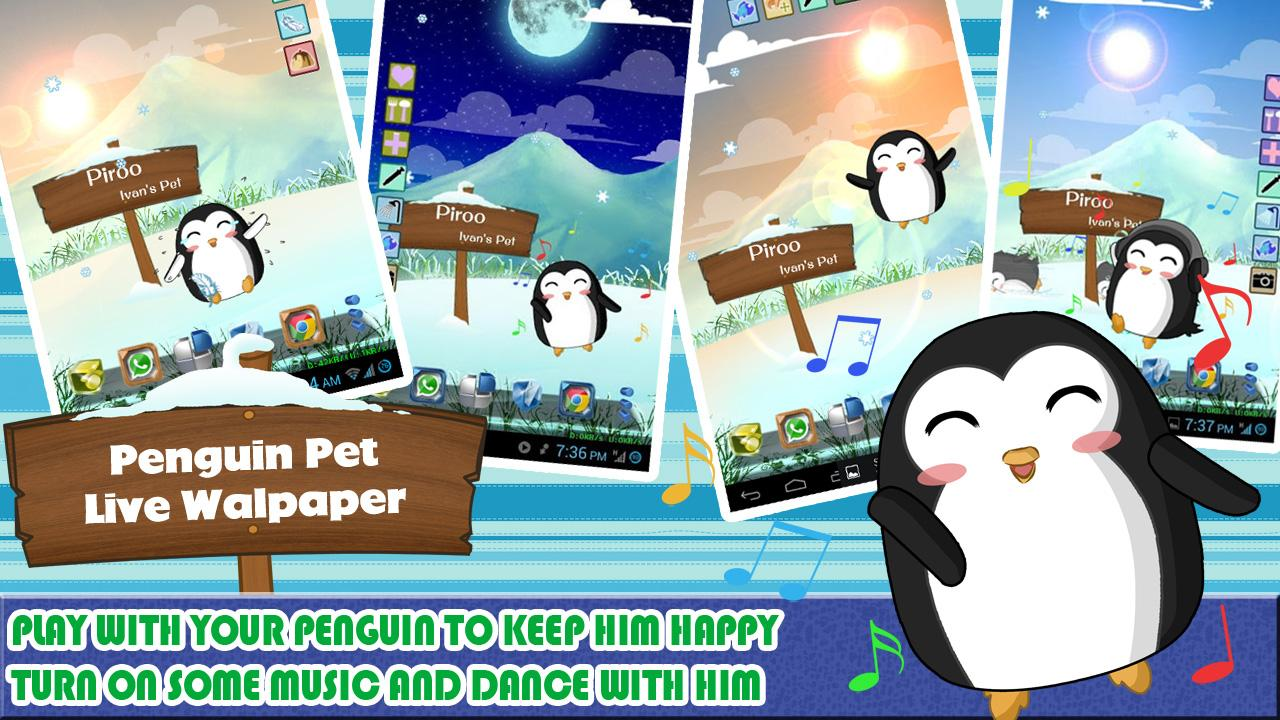 Penguin Pet Live Wallpaper - screenshot