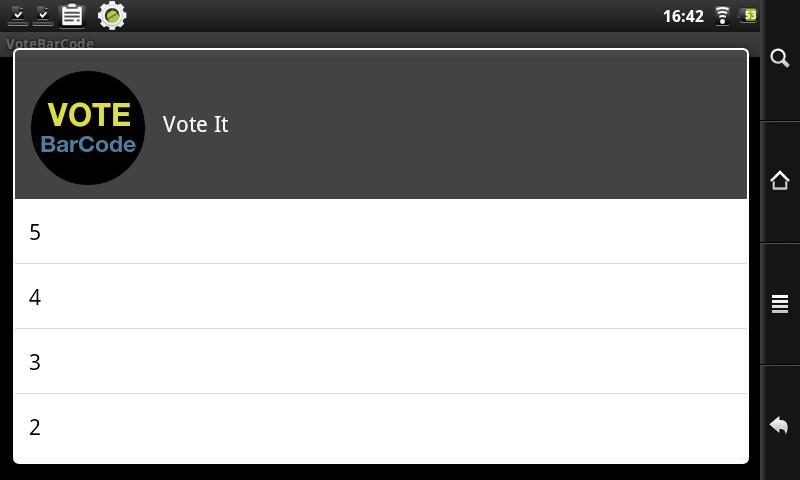 VoteBarCode- screenshot