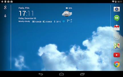 Transparent clock & weather Screenshot 23