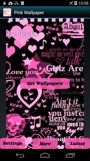 Hide Text Calls-Pink Wallpaper
