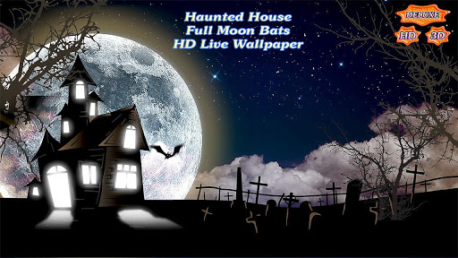 Haunted House Full Moon Bats app for Android screenshot