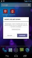 Screenshot of SFR Anti-spam+ (SMS et Appels)