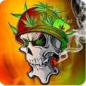 SkullFire Smoke Weed Animated icon