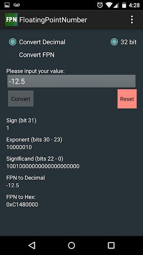 【免費教育App】IEEE Floating Point Converter-APP點子