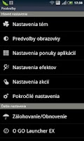 Screenshot of GO LauncherEX Slovak langpack