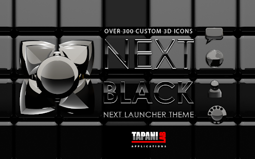 Next Launcher Theme black