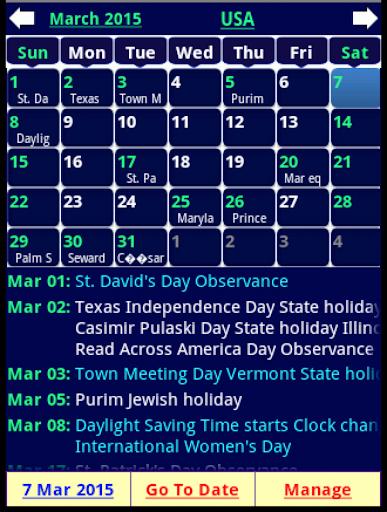 Holiday Calendar Free